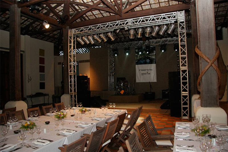 Área para eventos como casamentos e afins
